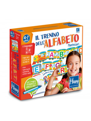 Il trenino dell'alfabeto Montessori. Happy. Ediz. illustrata. Con gadget