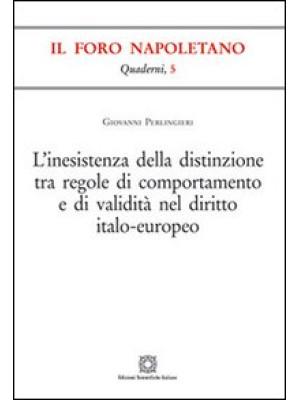 L'inesistenza della distinzione tra regole di comportamento e di validità nel diritto italo-europeo