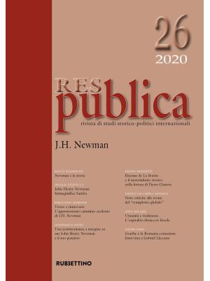 Res publica (2020). Vol. 26: J. H. Newman