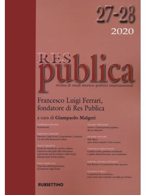 Res publica (2020). Vol. 27-28