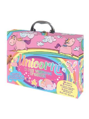 Unicorni. La mia valigetta creativa. Ediz. a colori. Con gadget