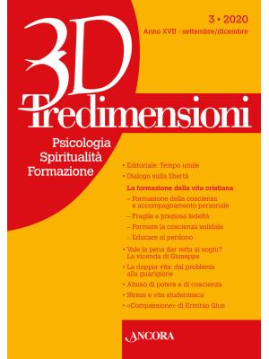 Tredimensioni. Psicologia, spiritualità, formazione (2020). Vol. 3