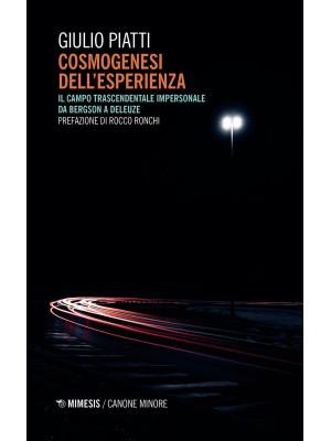 Cosmogenesi dell'esperienza. Il campo trascendentale impersonale da Bergson a Deleuze