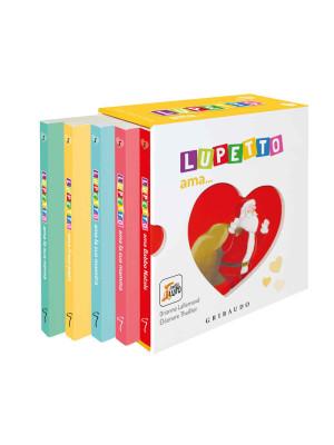 Lupetto ama...: Lupetto ama la sua mamma-Lupetto ama il suo papà-Lupetto ama la maestra-Lupetto ama la sua nonna-Lupetto ama Babbo Natale. Amico lupo. Ediz. a colori