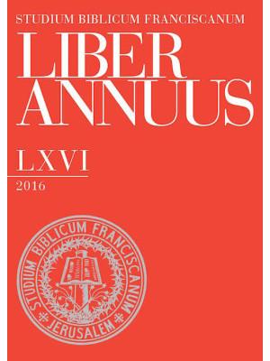 Liber annuus 2016. Ediz. multilingue