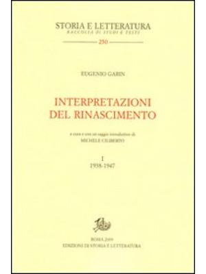 Interpretazioni del Rinascimento. Vol. 1: 1938-1947
