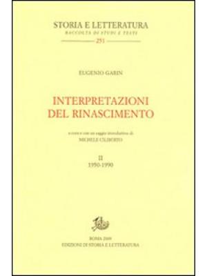 Interpretazioni del Rinascimento (1950-1990). Vol. 2