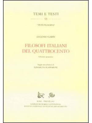 Filosofi italiani del Quattrocento. Ediz. anastatica