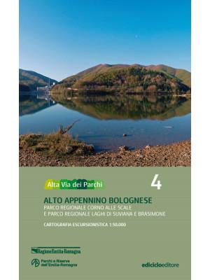 Alta via dei parchi 1:50.000. Nuova ediz.. Vol. 4: Alto Appennino bolognese. Parco regionale Corno alle Scale e parco regionale laghi di Suviana e Brasimone