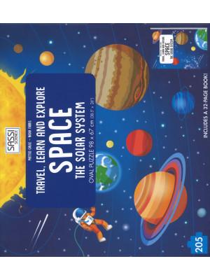 Space. The solar system. Travel, learn and explore. Libro puzzle. Ediz. a colori. Con puzzle