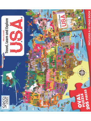 USA. Viaggia, conosci, esplora. Libro puzzle. Ediz. a colori. Con puzzle