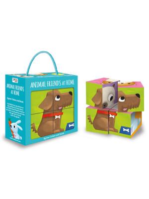Animal friends at home. Jigsaw cubes and book. Ediz. a colori. Con Gioco