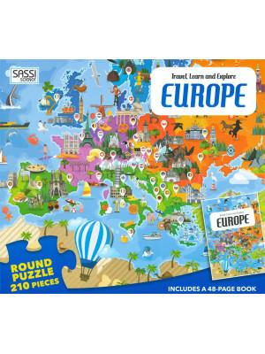 Europe. Travel, learn and explore. Con puzzle. Ediz. a colori