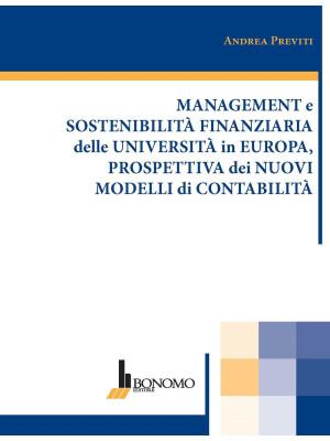 Management e sostenibilità finanziaria delle università in Europa, prospettiva dei nuovi modelli di contabilità