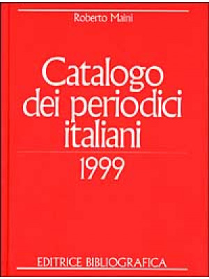 Catalogo dei periodici italiani 1999