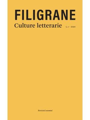 Filigrane. Culture letterarie (2020). Nuova ediz.. Vol. 1: Dialetti in poesia