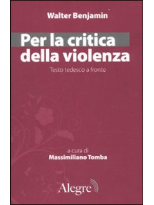 Per la critica della violenza