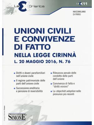 Unioni civili e convivenze di fatto nella Legge Cirinnà (L. 20 maggio 2016, n. 76)