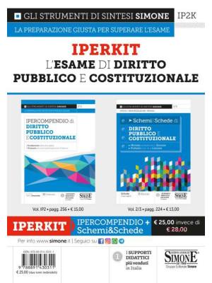 Iperkit esame di diritto pubblico e costituzionale: Ipercompendio diritto pubblico e costituzionale-Schemi & schede di diritto pubblico e costituzionale