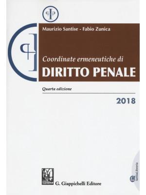 Coordinate ermeneutiche di diritto penale 2018