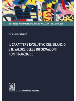 Il carattere evolutivo del bilancio e il valore delle informazioni non finanziarie