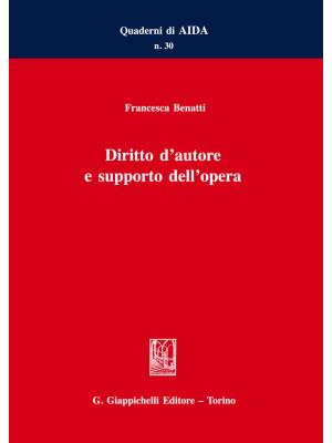 Diritto d'autore e supporto dell'opera
