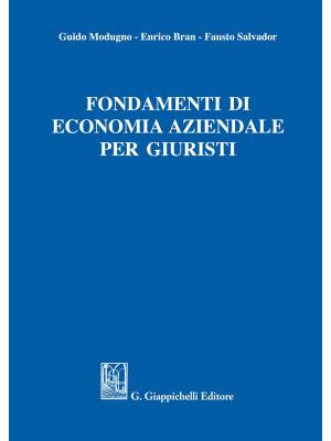 Fondamenti di economia aziendale per giuristi