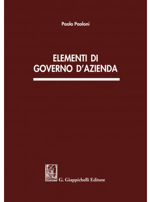 Elementi di governo d'azienda