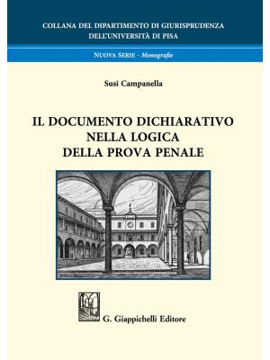 Il documento dichiarativo nella logica della prova penale