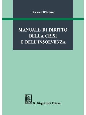 Manuale di diritto della crisi e dell'insolvenza