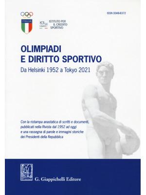 Olimpiadi e diritto sportivo. Da Helsinki 1952 a Tokyo 2021