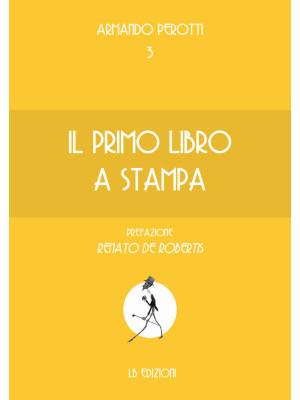Il primo libro a stampa