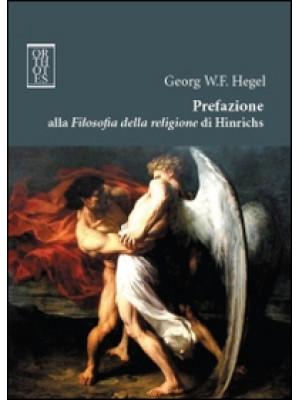 Prefazione alla Filosofia della religione di Hinrichs