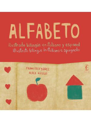 Alfabeto illustrato bilingue in italiano e spagnolo