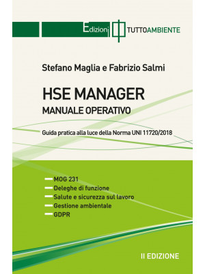 HSE manager. Manuale operativo